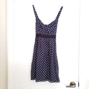 🎀XXI NAVY Blue Polka Dot Dress